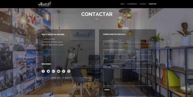 Diseño web OnePage - Complejo Villazul