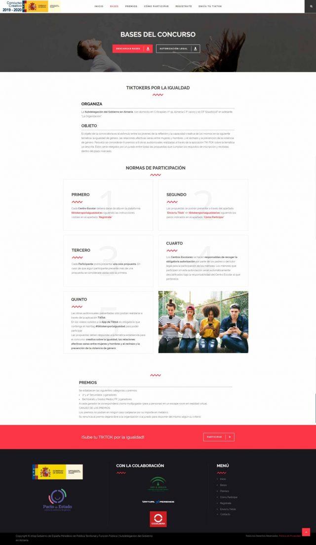 Diseño de la Página de las Bases del Concurso