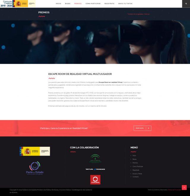 Diseño de la Página de Premios del Concurso