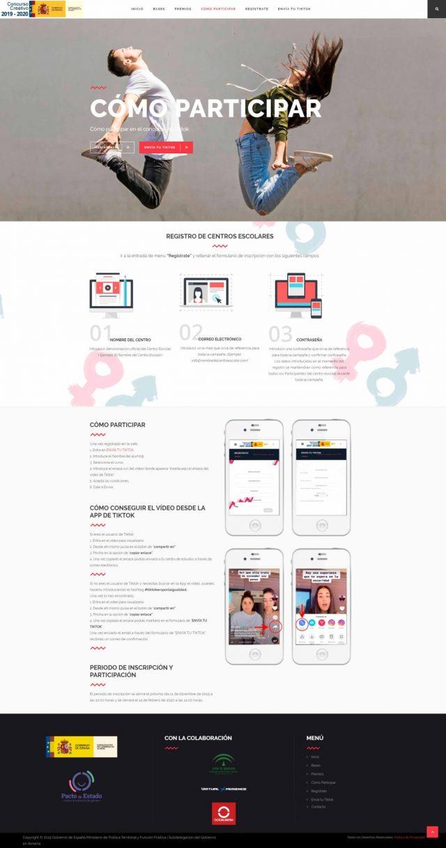 Diseño de la Página de Cómo Participar en el Concurso
