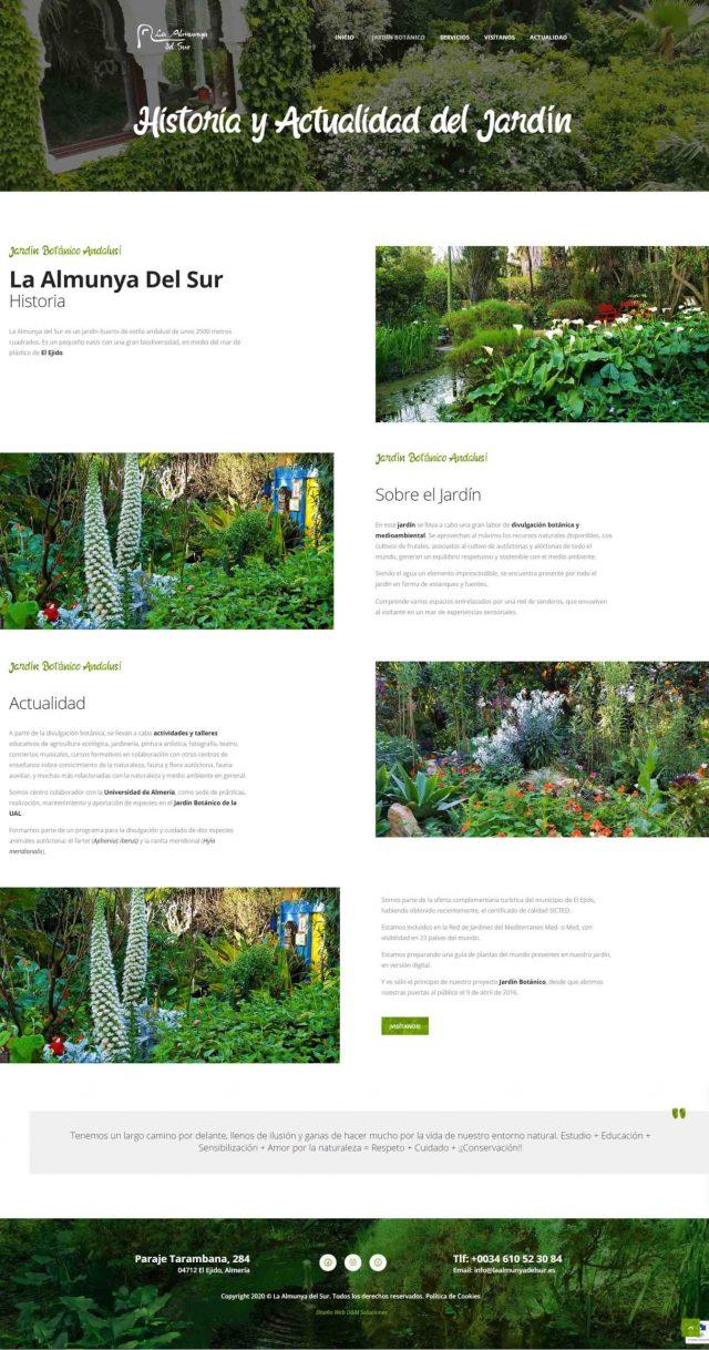 Diseño de la Página Sobre La Almunya del Sur