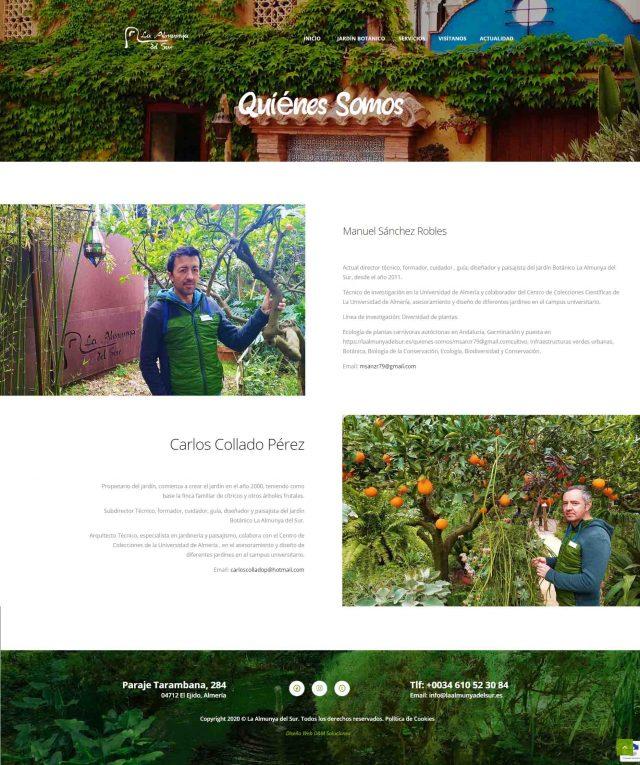 Diseño de la Página de Quiénes Somos de La Almunya del Sur