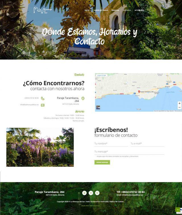 Diseño de la Página de Contacto de La Almunya del Sur