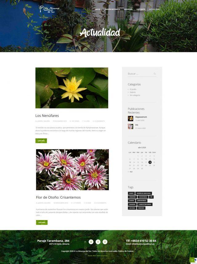 Diseño de la Página del Blog de La Almunya del Sur