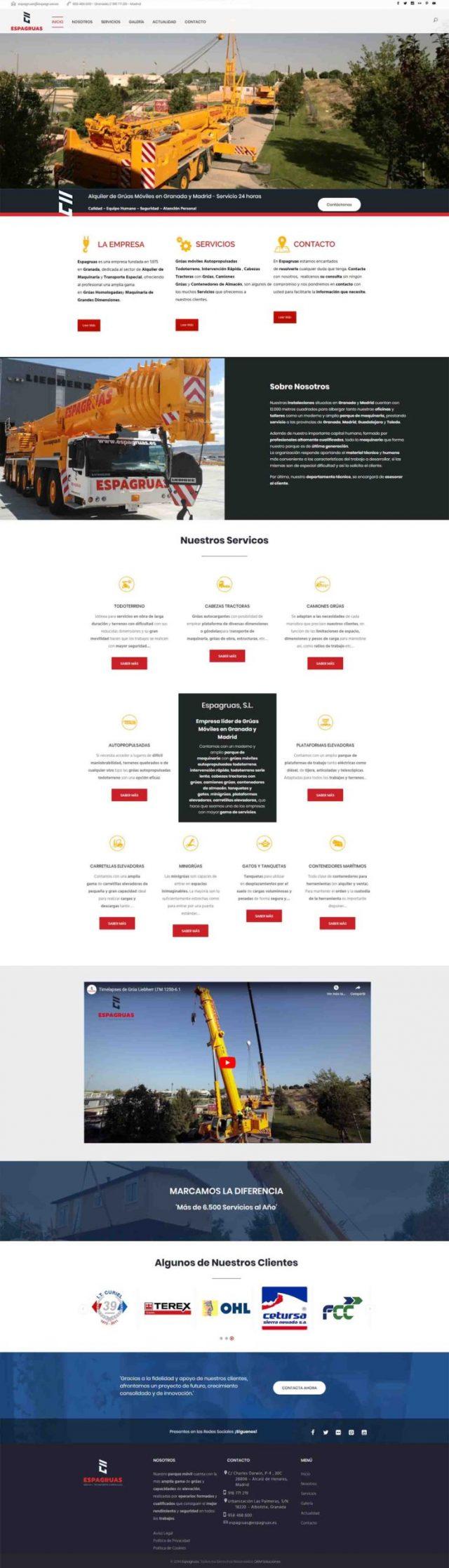 Diseño de la página inicio - Espagruas