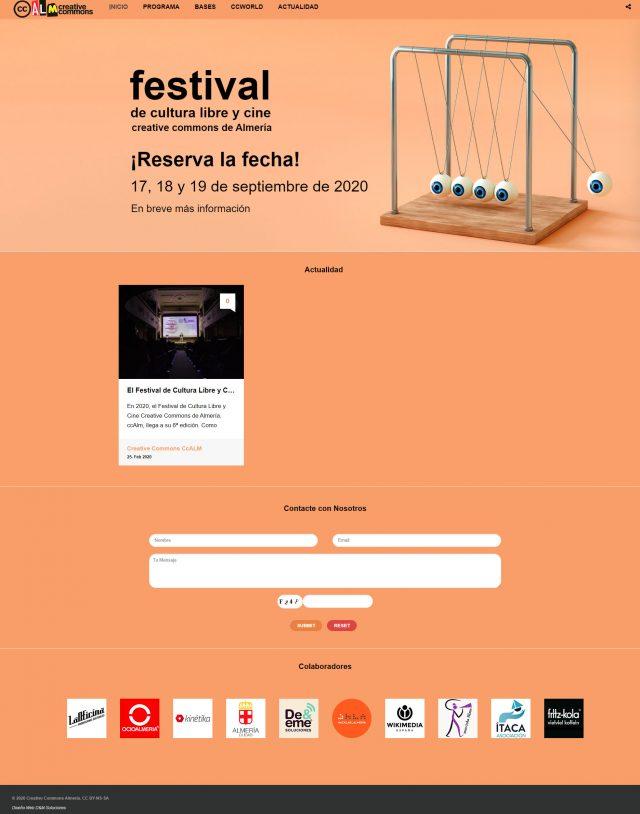 Diseño de la Página de Inicio CCALM